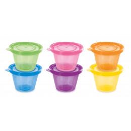 Set de 6 petits pots avec couvercles 120 ml