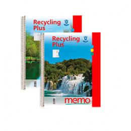 Cahier à spirales en papier recyclé format A5 ligné