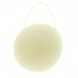 Eponge Konjac ronde - Argile blanche / peaux matures