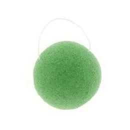 Eponge Konjac ronde - Argile verte / peaux mixtes