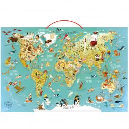 Carte du Monde magnétique en bois Le Monde - à partir de 7 ans