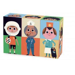 Cubes rigolos en bois - à partir de 2 ans