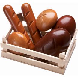 Assortiment de petits pains en bois pour petite épicerie - Biofino - à partir de 3 ans