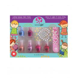 Set de 6 minis vernis à ongles pour enfant et accessoires - à partir de 3 ans