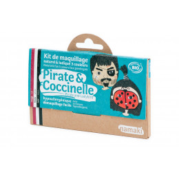 Kit de maquillage Bio 3 couleurs Pirate et Coccinelle - à partir de 3 ans