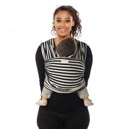Tricot-slen organic Design - 606 - Black and white stripes