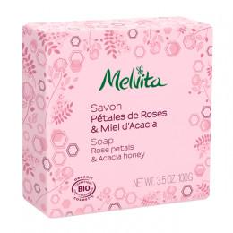 Savon BIO - Pétales de roses et Miel d'acacia - 100 g