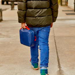 Lunch bag Go REPet - Bleu et orange