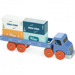 Camion porte-conteneurs en bois à empiler -  Vilacity - à partir de 3 ans