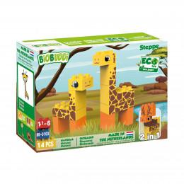 Wildlife Steppe - girafe - 14 blocs - à partir de 18 mois