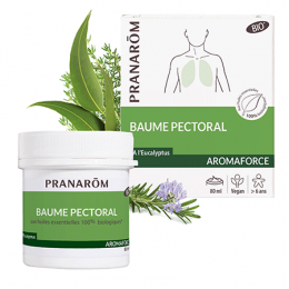 Aromaforce : baume respiratoire BIO