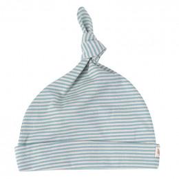 Bonnet - Rayures fines - turquoise