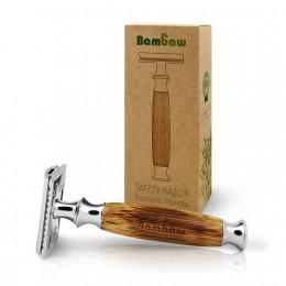Rasoir de sûreté avec manche en bambou