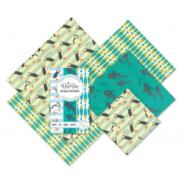 Emballages alimentaires cire d'abeille Family pack - Ocean