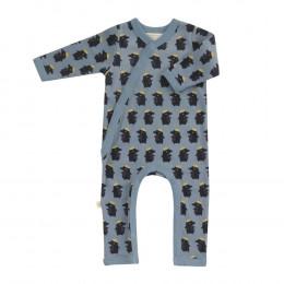 Pyjama kimono en coton BIO - Taupe bleu