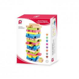 Dessus dessous jeu d'adresse - 55 blocs en bois - à partir de 3 ans