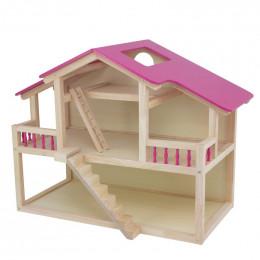Maison de poupées en bois - à partir de 3 ans