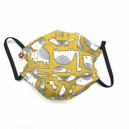 Masque buccal pour enfant - Dakar Ocre