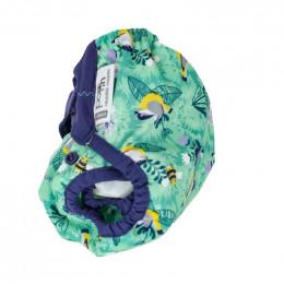 Culotte de protection pour couches lavables - Taille unique velcro - Mésanges