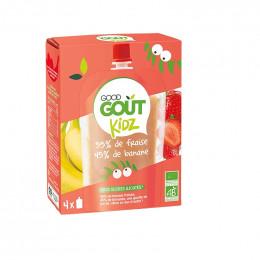 Gourde de fruit Kidz - Fraise Banane - 4 x 90 g