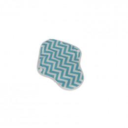 Serviette hygiénique lavable Ultra - Absorbant gris - Zig zag bleu
