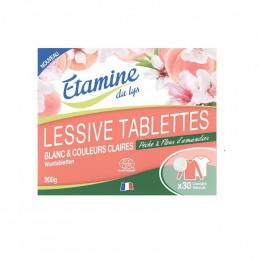 Lessive en tablettes - Blanc et couleurs claires - 30 lavages