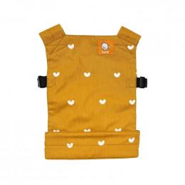 Porte poupée Tula mini - à partir de 18 mois - Coeurs ocre