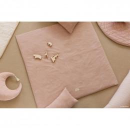 Coussin Pierrot velvet - Bloom pink