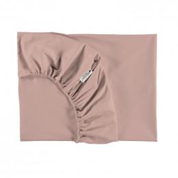 Drap-housse lit bébé Tibet - Misty pink 70 x 140 cm