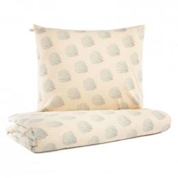 Parure de lit bébé Himalaya - Blue gatsby & Cream