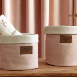 Panier en coton Tango - Bloom pink - medium