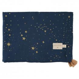 Couverture bébé estivale Treasure - Gold stella & Midnight blue