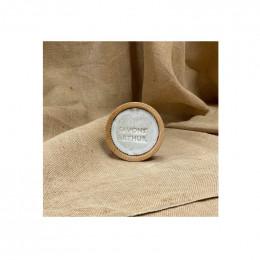 Savon à barbe nature + bol en bois d'acacia - 100 g