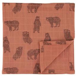 Langes en mousseline - 55x55cm - 3pcs - Brave Bear