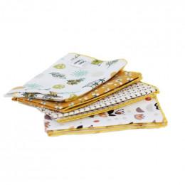 4 mouchoirs en coton Piribi - S - 20 x 20 cm