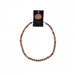 Collier perle 45 cm Image de jaspe