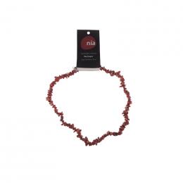 Collier baroque 45 cm Jaspe rouge