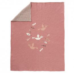 Couverture en tricot - Birds