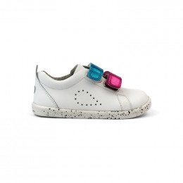 Chaussures I Walk - 637306 Grass Court Switch White (Raspbe + Peacock)