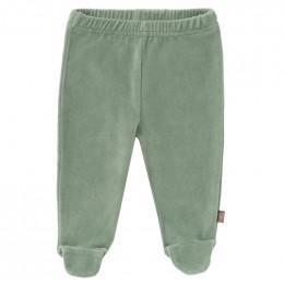 Pantalon bébé à pieds Forest green