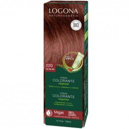 Crème colorante végétale Bio - 220 Lie de vin - 150 ml