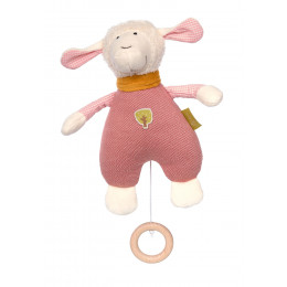 Peluche Nature musicale - Mouton rose