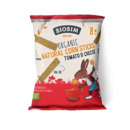 Bâtonnets de maïs Bio - Fromage tomate - 25 g - à partir de 8 mois