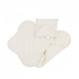 Serviettes hygiéniques lavables en coton BIO - NUIT - pack de 3