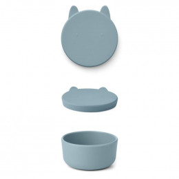 Boîte à collations Charlot - Rabbit sea blue