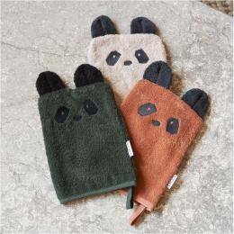 Set de 3 gants de toilette Sylvester - Panda mix