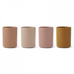 Set de 4 gobelets Ethan - Cat rose multi mix