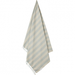 Serviette de plage Mona - Y&D stripe: Sea blue&sandy