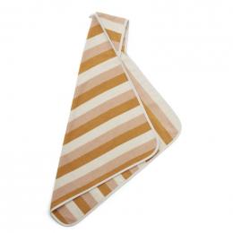 Cape de bain Alba - stripe Peach/sandy/yellow mellow