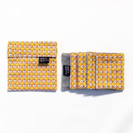 Pochette + 5 lingettes démaquillante en coton - 8 x 10 cm - Pomi